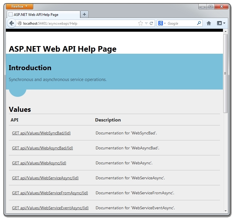 More Fun with Async ASP NET Web API Services | Tony Sneed's Blog