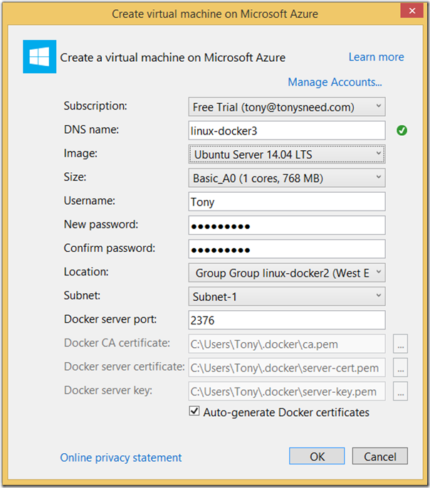 create-docker-vm-azure