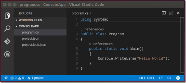 vscode-console-linux
