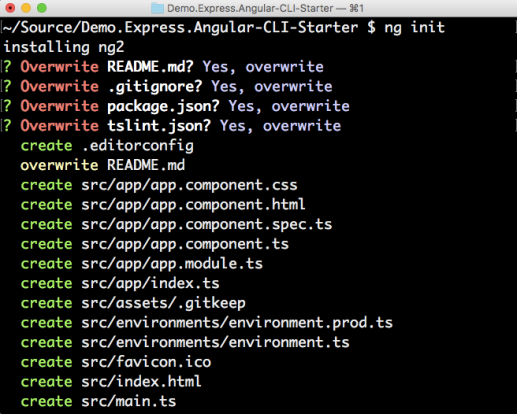 Scaffold an express front end with angular cli tony sneeds blog ng init overwrite pngg malvernweather