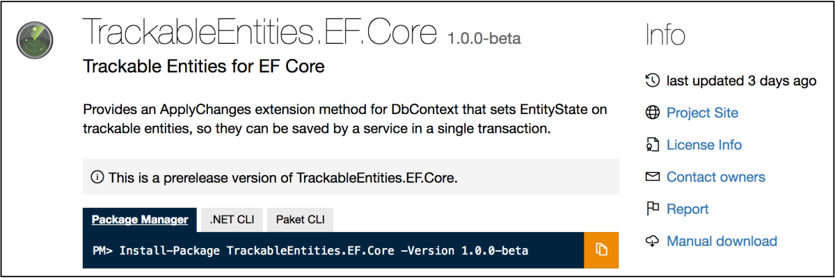 It's here! Trackable Entities for EF Core! | Tony Sneed's Blog